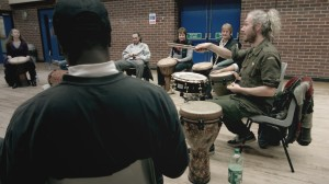 Group Image- Drum Together Brum Collective (with Damon Wilding on the far right) Workshop